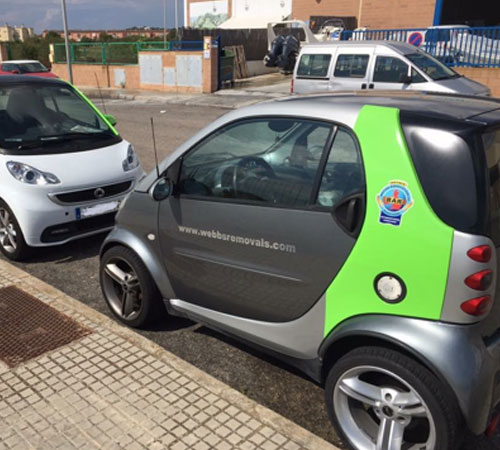 Our Mallorca Surveying Vehicles, bad access - no problem – Smart Cars...Smart Movers!
