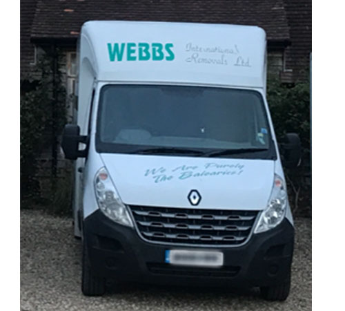 W888 BBS Renault Master Loloader @ 18.5 cbm, Used on our UK collection and delivery services.