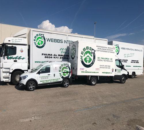 Webbs Removals Trucks